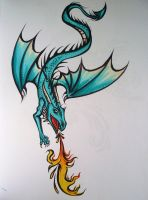 Aqua Dragon by Elliesmeria