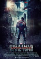 Captain America Civil War Movie Poster by HZ-Designs