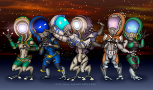 TKO chibis for ~zimsniper by Theta-Xi