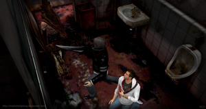 Alex and Desmond in Silent Hill by lizathehedgehog