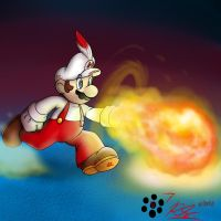 Fire Mario by Rafeal
