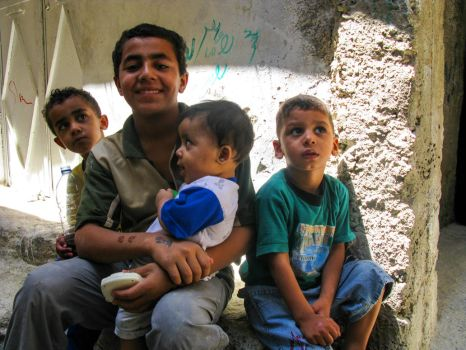 Kids in Sbeineh Camp, Damascus, Syria by kingtobbe