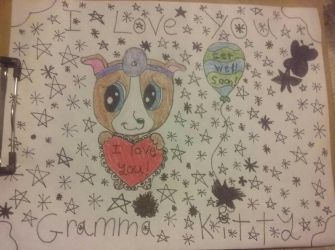 For My Gramma Kitty (Colored Version) by SonicTAlicorn
