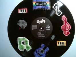 Vinylrecords - Perler beads by bGilliand