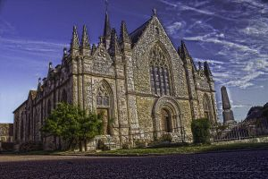 The church1 Pin La Garenne Orne France by hubert61