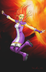 Starfire (With Clothing) by midgear