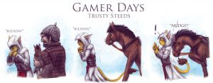 Gamer Days - AC: Trusty Steeds by 13blackdragons