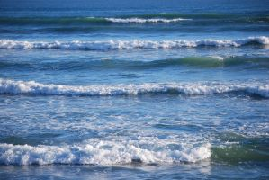 Rolling Beach Waves 2 by CompassLogicStock
