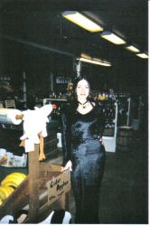 Kat as Morticia from the front by hngr2013