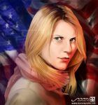 Claire Danes - Carrie Mathison of Homeland by MaruExposito