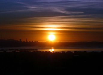 The Sun Subsumed by The City by j-blu