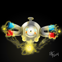 Magnemite painting