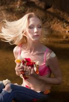 Hair Flip with Rose Petals by wstoneburner