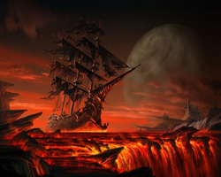 Ghost Ship from Hell by myjavier007
