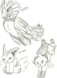 PKMN B and W Doodles 3 by Kurofaikitty