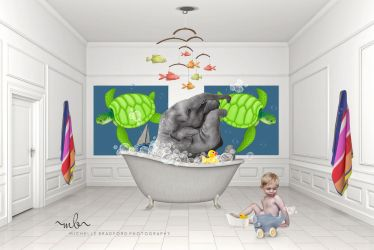 Elephant bath by MichellewBradford