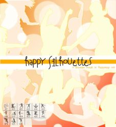 happy Silhouettes Brushes by Coby17