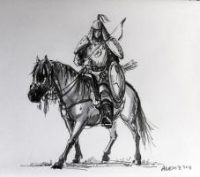 Mongol Warrior by alempe