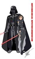 Darth Vader and Leia by Inspector97