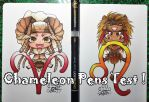 Chameleon Pens Test + video by Lily-Fu