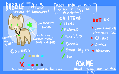 UNOFFICIAL Bubble Tails Species Reff by raikukitti