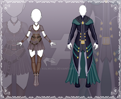 [Close] Adoptable Outfit Auction 112-113 by Kolmoys