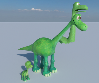 The Good Dinosaur - Arlo W.I.P #4.5 (Comparison) by MegalexMaster