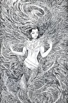 Phoenix Resurrection Cover Inks by Nisachar