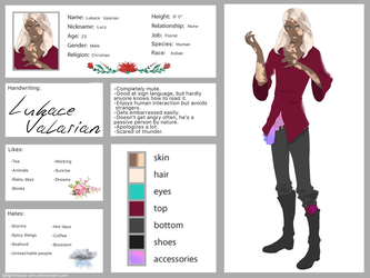 Lukace Valarian - OFFICIAL 2018 ref. Sheet by lighthouse-arts