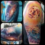 Space half sleeve by ellegottzi