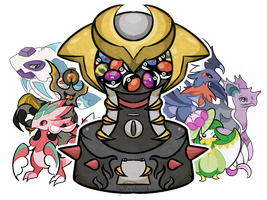 [closed] Giratina Gachapon (Retypes and Fusions!) by grayscail
