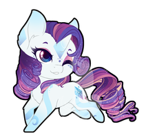Rainbow Power Chibi Redux - Rarity by FuyusFox