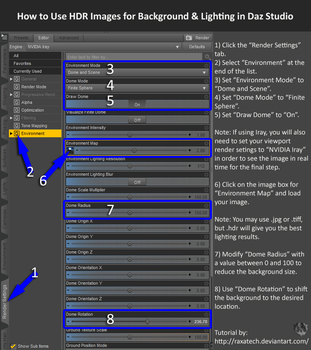 Tutorial: HDR Environments in Daz Studio by Raxatech