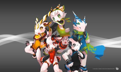 Goats of the 16th Asian Games by TysonTan