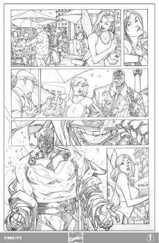 X-men 1 Page 3 Pencils by ElVlasco
