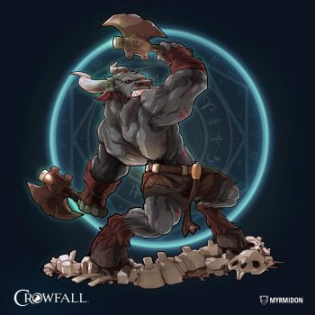 Crowfall Myrmidon Poster by PerfectDork