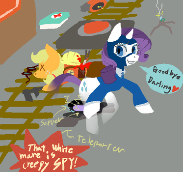That white mare is a creepy SPY!! by TH-Kimy