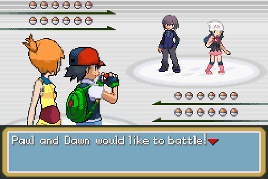 Ash and Misty vs Paul and Dawn by BeeWinter55