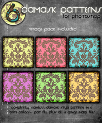 Damask Brites Patterns by kittenbella