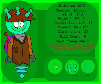 Matthew UFO (Normal Ref) (MARCH 2018)  by ChaosCrossing