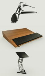 3 Stands (C4D File Download) by NIKOMEDIA