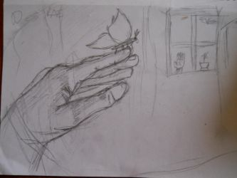 Hand Painting Sketch by BlueSaltwaterTaffy