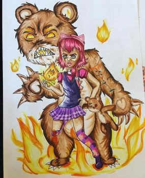 Annie And Tibbers by Ronia-chan