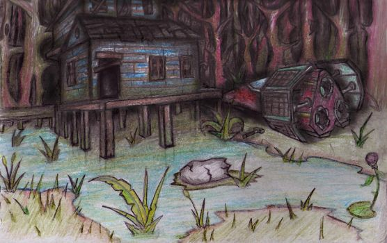 house in the swamp by LenLibbet