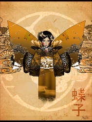 Gold Afternoon Butterfly Child by VoodooBiatch