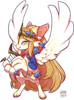 #128 Fornlee w/m - Gold Harp by Kitkabean