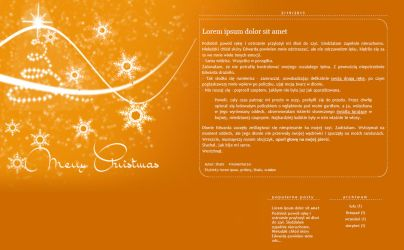 Blogspot template Wesolych Swiat by MySensitiveHeart