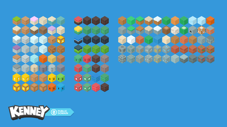 Isometric blocks (game assets) by KenneyWings