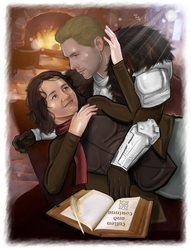 Art Trade -Cullen and Corinne - A beautiful moment by LadyMintLeaf