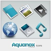 Aquanox mini Icon Set Preview by cyberchaos05